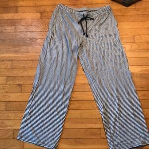 Nautica Sleepwear Striped Pajama Pants (Large)